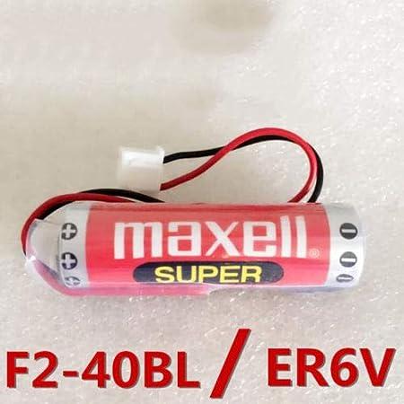 2 Pack MAXELL ER6C AA F2-40BL 3.6V 1800mAh Battery for Mitsubishi FX PLC w//Plug