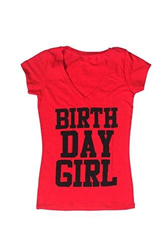 Happy Birthday Tshirt (2XL, Red) (Charity Gift Basket Ideas)
