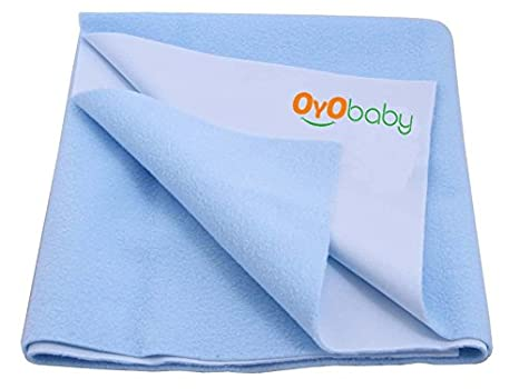 Buy OYO BABY Waterproof Bed Protector Dry Sheet  Small (Royal Blue