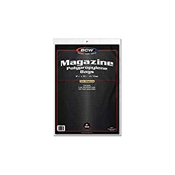 500 BCW Thick Magazine Bags Sleeves Resealable Polypropylene 1-MAG-R-THICK