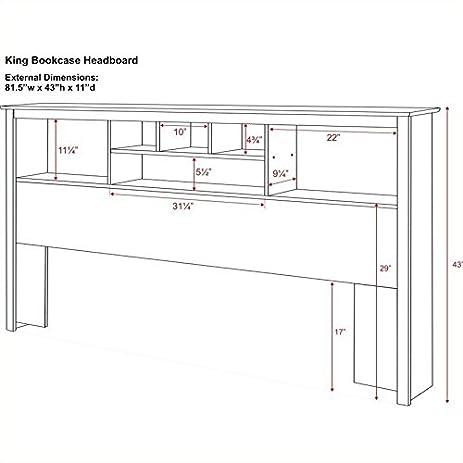 amazoncom prepac monterey king bookcase platform storage bed in cherry kitchen u0026 dining