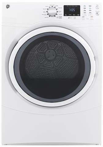 GE 7.5 Cu. Ft. 10-Cycle Gas Dryer White On White GFD43GSSMWW