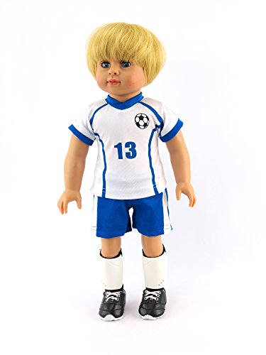 Caden the Super Soccer Player 4-piece Outfit with Boy Doll   Fits 18