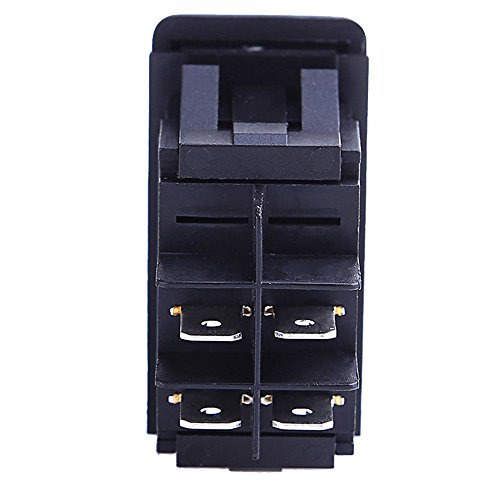 41KcgUpOf3L amazon com e support car marine blue led toggle switch dash 4pin 4 pin toggle switch wiring diagram at gsmx.co