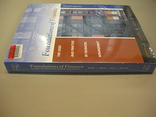 foundations of finance the logic and practice of financial management 6th edition arthur keown Find arthur j keown solutions at cheggcom now the logic and practice of financial management (6th)-arthur j keown 6th edition.