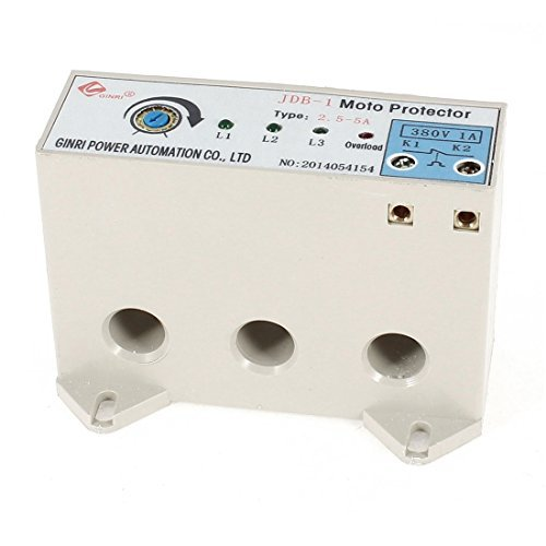 DealMux JDB-1 3 Phase 2.5-5 Ampere Adjustable Current Motor Circuit Protector by DealMux (Image #2)