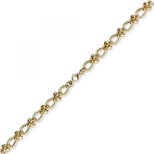 11,5mm Imagination Chaîne Collier avec noeud bijou collier en or jaune 58545cm