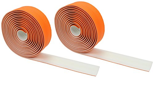 Domain Cycling EXTRA LONG Gel Bicycle Handlebar Bar Tape Wrap for Road Bikes and Cycling (Orange)