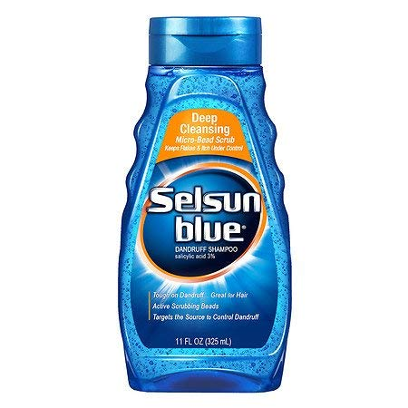 Selsun Blue Dandruff Shampoo, Deep Cleansing, 11 Ounces each (Value Pack of 3) by Selsun Blue