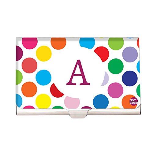 (Colorful Polka Dots - Personalized Designer Visting Card Holder- Nutcase Your Name Business Card Holders)