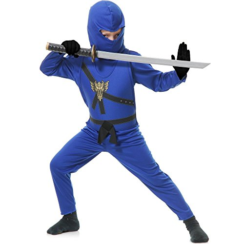 Unique Group Costumes Ideas (Charades Boys' Ninja Master Costume Small Blue)