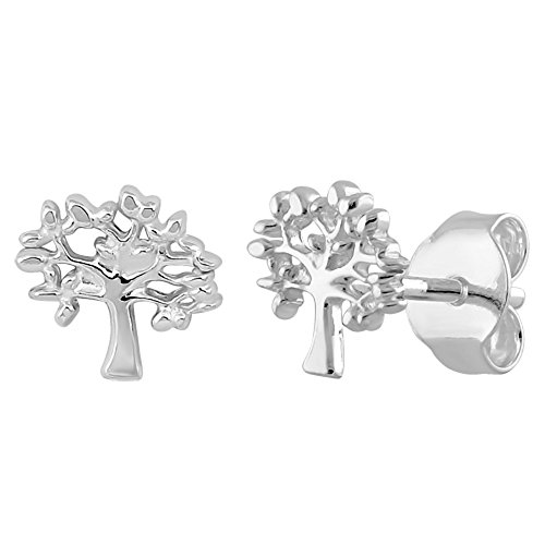 "Price comparison product image Sterling Silver ""CHILDREN'S"" Stud Earrings (TREE OF LIFE)"