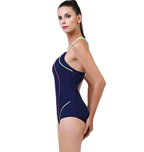 ZOYOL-YT Traje de baño de bikini de una sola pieza con Chestdess Womens Sports Beach Hot Swimsuits m8680 tibet blue