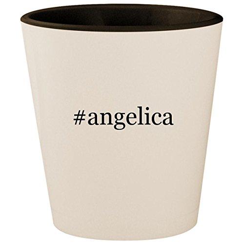 #angelica - Hashtag White Outer & Black Inner Ceramic 1.5oz Shot Glass ()