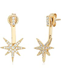 Star Gold-Plated Sterling Silver Earrings Jackets