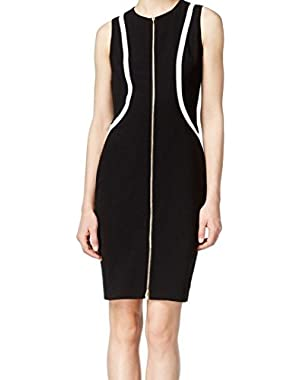 Womens Ponte Colorblock Wear to Work Dress