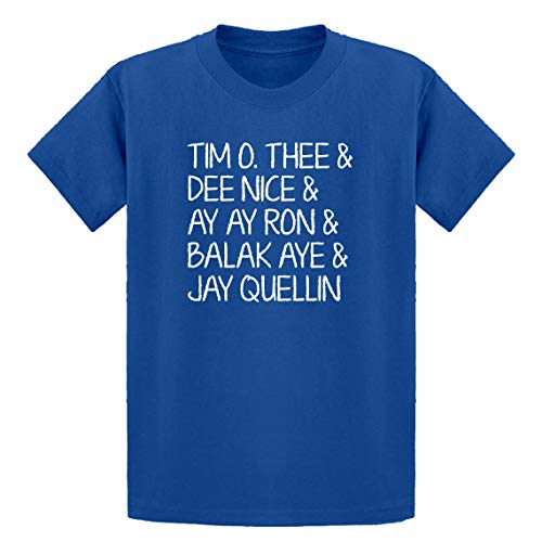 Youth Tim O. Thee & Dee Nice & Ay Ay Ron & Balak Aye & Jay Quellin X-Large Royal Blue Kids T-Shirt