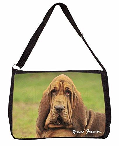 Basset Hound Dog Yours Forever... Large 16 Black School Laptop Shoulder Bag