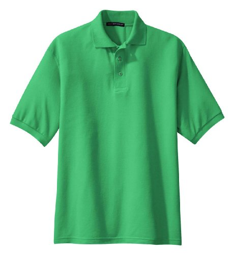 (Port Authority K500 Silk Touch Polo - Court Green - Large)