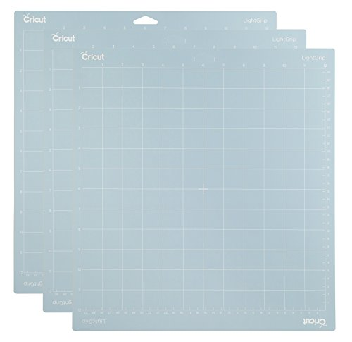 Cricut Lightgrip Cutting Mat 12X12 3 Pack 3 Amz, Blue, 3 Piece