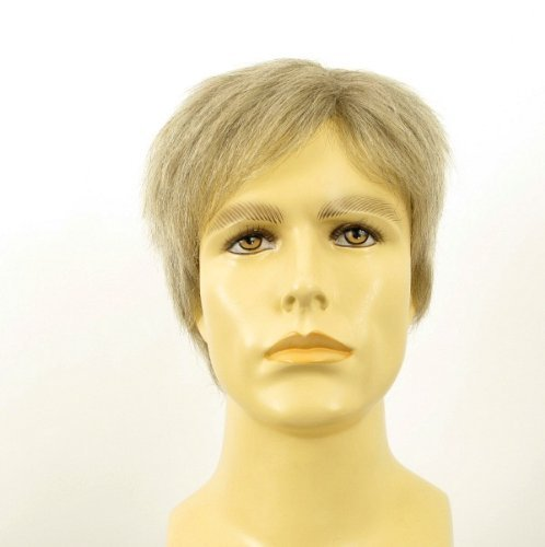 univers perruque Natural Hair Short Wig For Man White And Grey Ref Pierre 51