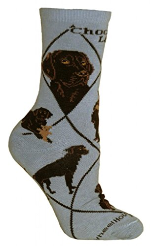 Chocolate Labrador Retriever Adult Cotton Puppy Dog Socks by WHD (Size: 6-8 1/2, (Labrador Retriever Socks)