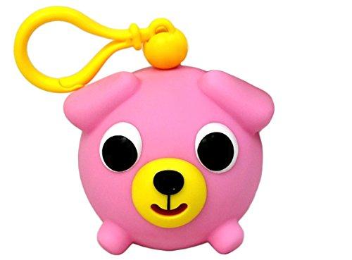 Oshaberi Doubutsu Talking Animal Ball Borukuma Stress Ball - Key Chain Clip - Pink Dog