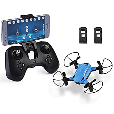 HELIFAR X1 FPV Drone Mini RC Quadcopter with Camera 2.4GHz 6-Axis Gyro Remote Control Nano Drone for Kids Adults Beginners Headless Mode/3D Flip/One Key Take-Off Return/Altitude Hold/FPV Mode by HELIFAR