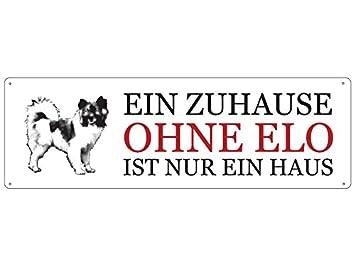 Blechschild METALLSCHILD Türschild EIN ZUHAUSE OHNE CHIHUAHUA Geschenk Hund