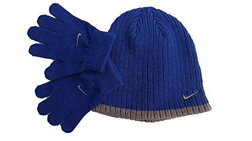 Nike Boys Rib Knit Hat and Glove Set Size : Youth 8/20