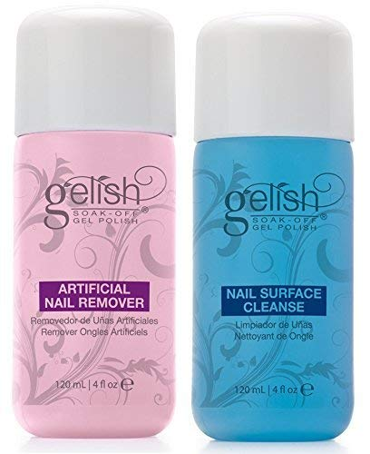 NEW Gelish Soak Off Gel Nail Polish Remover & Cleanser Bottles 120mL (4 fl - Remover Polish N/a