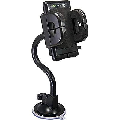 Bracketron Universal Grip-iT Rotating Windshield Car Mount Phone Holder Cradle Hands Free iPhone X 8 Plus 7 SE 6s 6 5s 5 4s Samsung Galaxy S9 S8 S7 S6 S5 Note Google Pixel 2 XL LG Nexus Sony PHW-203-BL: Electronics