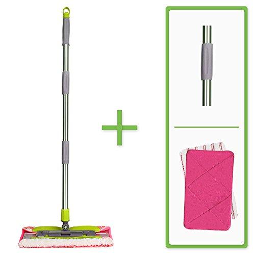 - Aluminium Magic Microfiber Mop with 2 reversible Microfiber Mop Cloths | Washable, Reusable | Wet or Dry Cleaning Kitchen, Bathroom, Hardwood Floors