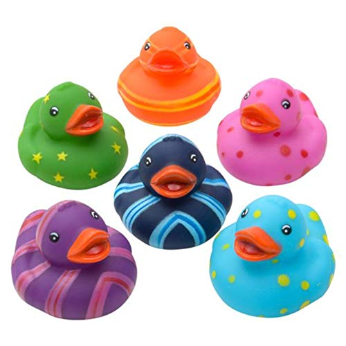 OIG Brands Rubber Ducks Bath Tub Toys - Bulk Duckies for Babies and Kids Duck Set of 12 (Multi Color) -