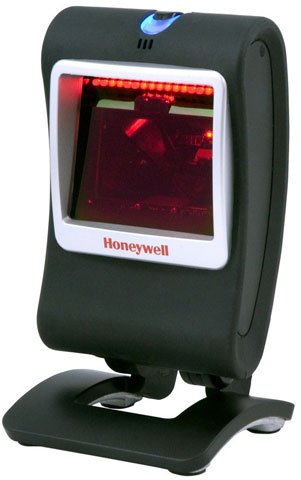 Honeywell Genesis 7580G Hands-Free Omnidirectional Scanner (1D, PDF417 and 2D), Black, with USB Cable, MK7580-30B38-02-A