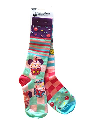 Disney Parks Mickey and Friends Cupcake Birthday Kid Youth Girl Socks (small) (Kids Woven Socks)