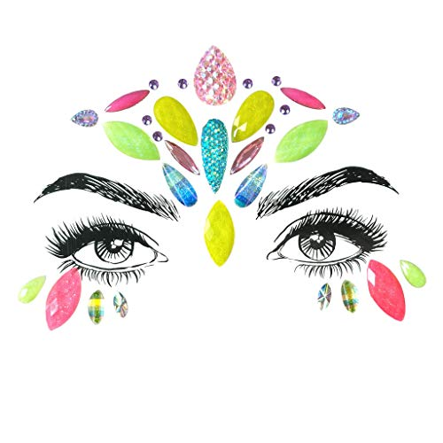 Akabsh_accessory Face-Use Fairy Style Glitter Gems Stickers,Makeup Jewel
