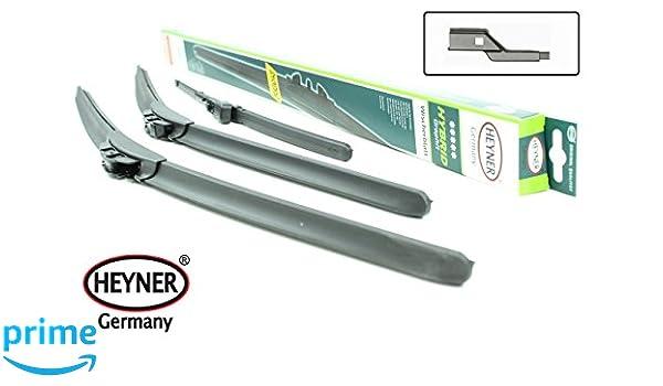 HEYNER - Juego completo de 3 híbridos limpiaparabrisas delanteros y traseros, 61, 48 y 30,5 cm.: Amazon.es: Coche y moto