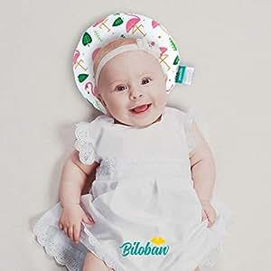 Amazon.com: Almohada para bebé de cabeza plana, 100% algodón ...
