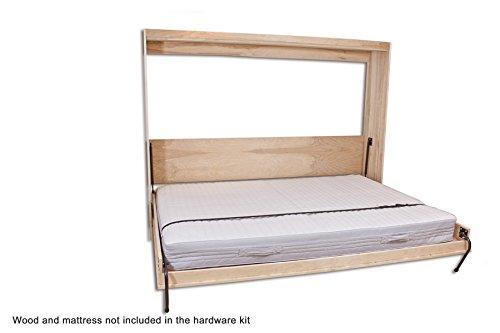 Horizontal Murphy Bed Hardware Kits : Twin size easy diy murphy wall bed hardware kit horizontal