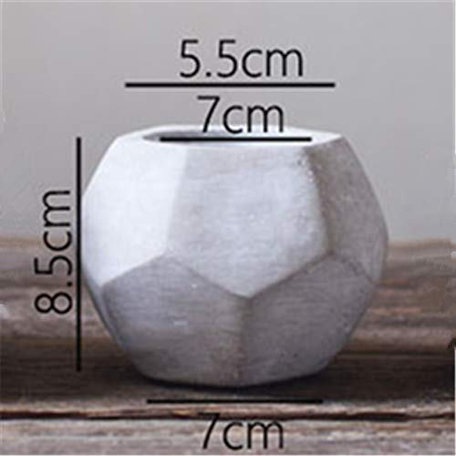 Concrete Planter Best Quality - Clay Molds - Big Cement Mold Handamde Silicone Flowerpot molds for Home Gardening Succulent Plants Diamond Shape Clay Pot Mould - by GTIN - 1 PCs -