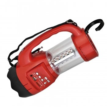 Price comparison product image QFX Quantum Emergency Flshlght FMRadio Red CS-180RED
