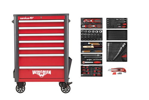 Carolus Germany Workshop trolley WINGMAN + tool set 229 pcs