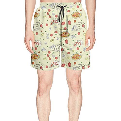 IAWDFHBJ Pizza Crust Men Board Shorts Beach wear ()