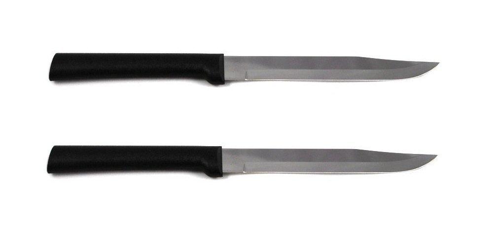 Rada Cutlery Utility Steak Knife with Black Stainless Steel Handle Pack of 2