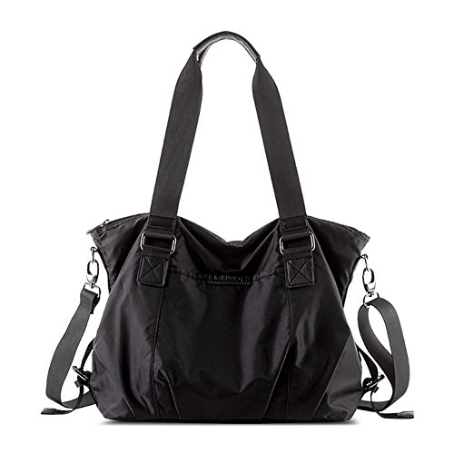 Lightweight Crossbody Bag Nylon Small Black Waterproof Grid 253203 Bag Fouvor Hobo Shoulder w4n1qfxSx