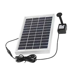 MagiDeal 5W 12V Solar propulsé par Panel Bomba de Agua derrames jardín Conjunto de Fuente Sumergible