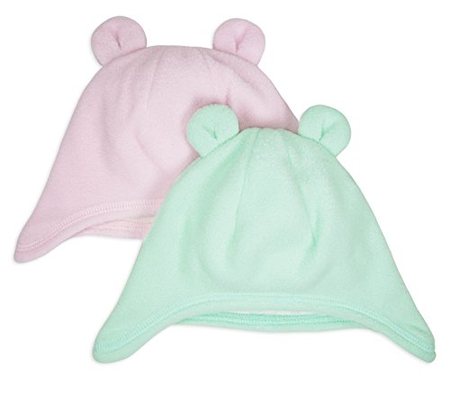 Double Layered Animal Ear Hat, Keepersheep Baby Bear Ear Hat Set, 100% Polyester and Cotton (6-12 months)