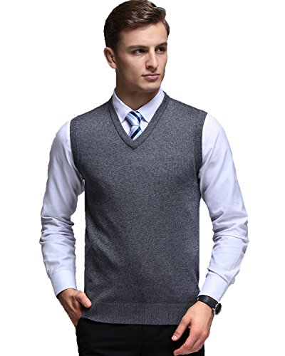 Lightweight V-neck Sweater (Kinlonsair Oversized Mens Casual Slim Fit Solid Lightweight V-neck Sweater Vest)
