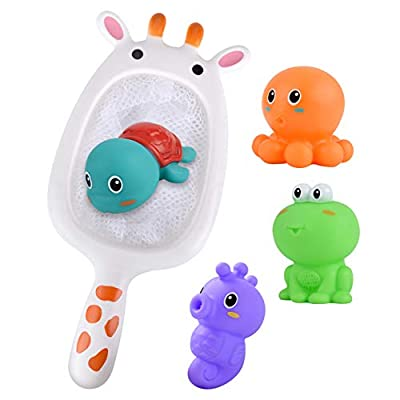 DUOUH Baby Shower Toy Set, Water Toy, with 4 Cute Animals, Baby Shower Toy Shower Toy: Home & Kitchen